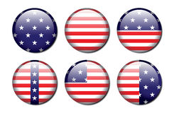 American Flag Buttons Royalty Free Stock Image