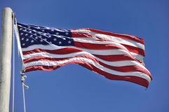 American Flag at Cabrillo Point, San Diego Royalty Free Stock Image