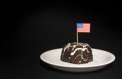 American Flag Cake Stock Photography