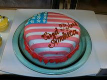 American Flag Cake Royalty Free Stock Photography
