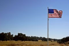 American Flag & California Lan Royalty Free Stock Photo