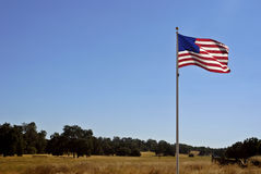 American Flag & California Lan Royalty Free Stock Photography