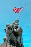 American flag carried by soldiers Royalty Free Stock Images