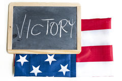 American flag celebrates victory Royalty Free Stock Photos