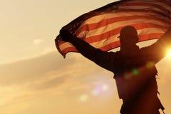American Flag Celebration stock images
