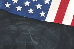 American flag on the chalkboard Royalty Free Stock Images