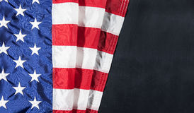 American flag on a chalkboard with space for text Stock Image