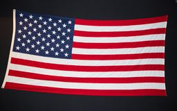 American flag on a chalkboard royalty free stock photo