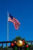 American Flag at Christmas Stock Photography