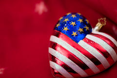 American flag Christmas ornament Royalty Free Stock Image