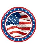 American Flag In Circle Stock Image