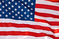 American flag. Close up of an american flag Stock Images