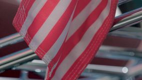 American flag close up. In slow motion stock video footage
