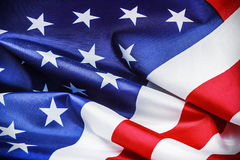 American flag Close-up background Stock Images