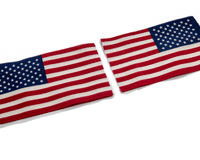 American flag close up. Macro stars and stripes royalty free stock photo