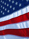 American flag close up waving in the wind Stock Image