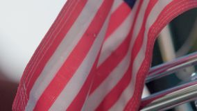 American Flag Close Up. In slow motion stock footage
