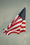 American Flag. A close up of an American flag waving in the wind Stock Photo