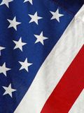 American flag closeup. A closeup of the American flag, with some of the stars and stripes visible Royalty Free Stock Photos