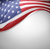 American flag. Closeup of American flag on plain background Stock Images