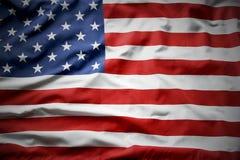American flag. Closeup of ruffled American flag Royalty Free Stock Image