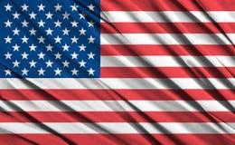 American flag. Closeup of ruffled American flag Stock Photography