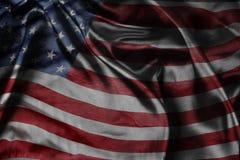 American flag. Closeup of silky American flag Stock Image