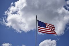 American Flag in the clouds. Royalty Free Stock Photos