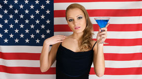 American flag and cocktail Royalty Free Stock Image