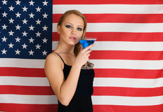 American flag and cocktail Stock Photo