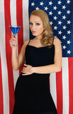 American flag and cocktail Stock Photos