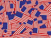 American flag collage Stock Photo