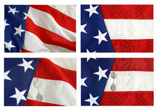 American Flag Collage Royalty Free Stock Photo