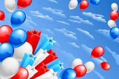 American Flag Colored Balloon Royalty Free Stock Photos