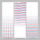 American Flag colors banner for 4th of July celebration. American Flag colors banners set for 4th of July, Independence Day celebration Royalty Free Stock Photos