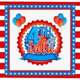 Greeting Card for 4th of July celebration. American Flag colors greeting card design for 4th of July, Independence Day celebration Royalty Free Stock Photography