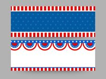 Web headers for 4th of July celebration. American Flag colors, Website headers set for 4th of July, Independence Day stock illustration