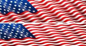 American flag concept stock illustration