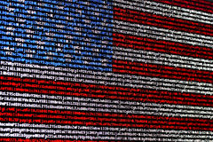 American flag consisting of computer code Royalty Free Stock Photo