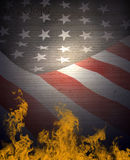 American Flag & Constitution Stock Image