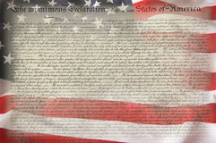 American Flag & Constitution Stock Images