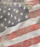 American Flag & Constitution Royalty Free Stock Photos