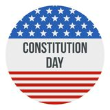 American flag constitution day logo icon, flat style. American flag constitution day logo icon. Flat illustration of american flag constitution day logo icon for royalty free illustration