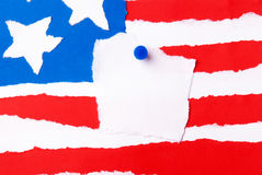 American Flag with Copy Space Stock Photography