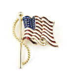American flag costume jewelry pin Stock Images