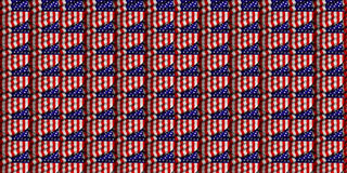 American flag crest pattern Stock Photo