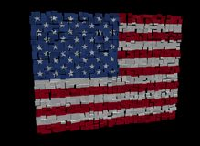American flag on cubes Stock Photo