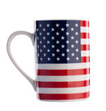 American Flag Cup Isolated With Path Stock Photos