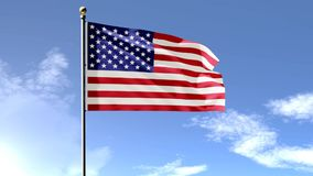 American Flag 3D stock video