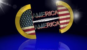 American flag,3D illustration. Beautiful background Stock Photography